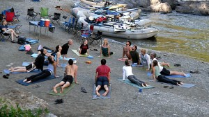 Yoga on the Middle Fork Salmon River
