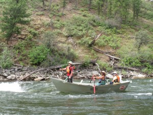 Drift Boat Fishing the Middle Fork Salmon River in Idaho