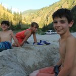 Play time at camp- Main Salmon River